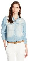 Calvin Klein Jeans Women's A-Line Tencel Shirt