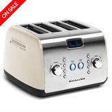 KitchenAid NEW Artisan KMT423 Almond Cream 4 Slice Toaster