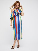 Mara Hoffman One Shoulder Colorful Midi Dress by at Free People