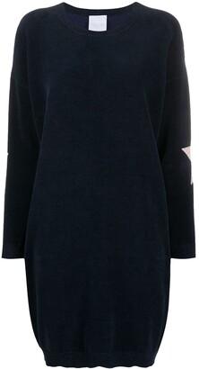 Antonella Rizza Star-Embroidered Velvet Dress