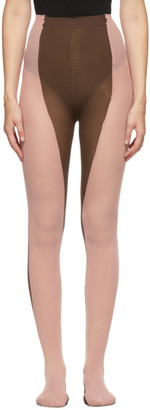 Paula Canovas Del Vas Brown and Pink Bi-Colored Tights