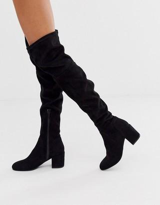 Miss KG knee high sock boot in black