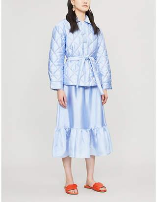 Stine Goya Aditi quilted satin jacket