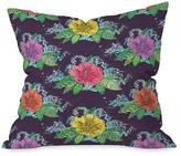 DENY Designs Hibiscus Surf Grape Throw Pillow