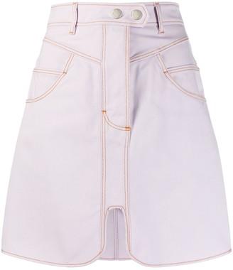 Ellery A-Line Denim Skirt