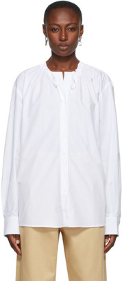 Rika Studios White Tatum Neck Ties Shirt