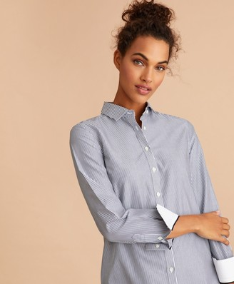 Brooks Brothers Non-Iron Striped Cotton Broadcloth Tunic