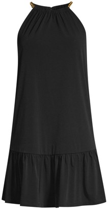 MICHAEL Michael Kors Solid Chain Halter Dress