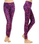 SOUTEAM Womens Yoga Leggings with Pocket, Lightweight Fitness Pants, Purple & Pink, Medium