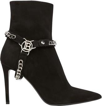 Balmain Ora Chain Strap Ankle Boots