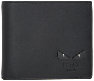 Fendi Black Bag Bugs Bifold Wallet