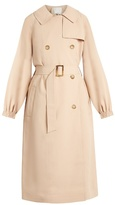 Tibi Notch-lapel double-breasted twill trench coat
