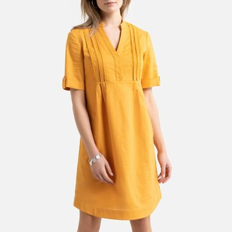 Anne Weyburn Linen/Cotton Shift Dress