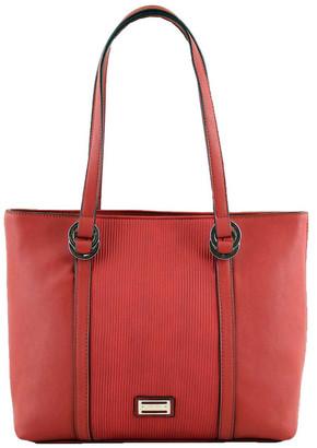 Cellini CSQ266 Pattie Double Handle Red Tote Bag
