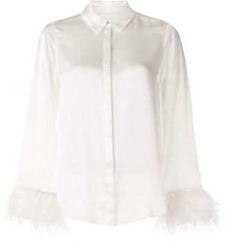 Cinq à Sept Elisha feather-detail shirt
