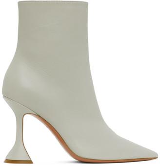 Amina Muaddi Off-White Giorgia Heeled Boots