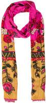 Anna Sui Floral Print Scarf
