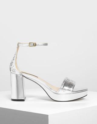 Charles & Keith Motif Chunky Platform Heels