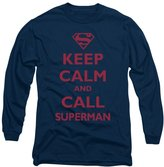 Superman DC Comics Call Adult Long Sleeve T-Shirt Tee