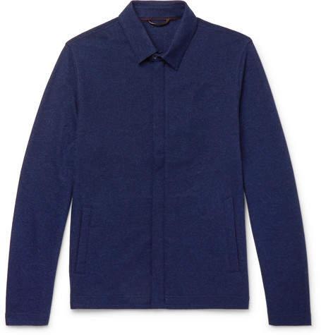 Loro Piana Cashmere Overshirt - Navy