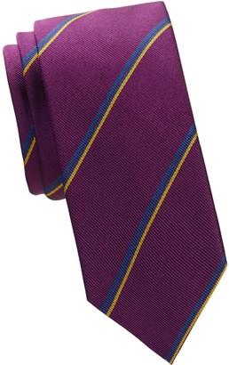 Salvatore Ferragamo Textured Striped Silk Tie