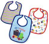 Hamco Dirt Rocks 3-Pack Water-Resistant Infant Bib in Blue/Multi