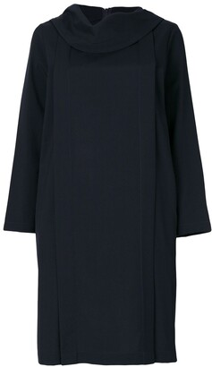 Comme des Garcons Pre Owned Tricot high folded neck dress