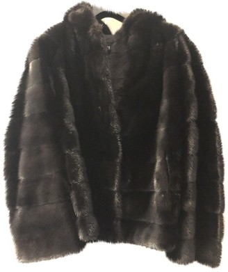 Giuliana Teso Black Mink Coat for Women