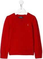 Ralph Lauren Kids logo embroidered jumper