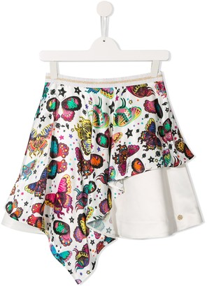 Roberto Cavalli Junior Butterfly Print Mini Skirt