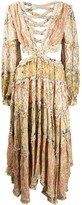 Zimmermann Freja cut-out detail ruffle trim dress