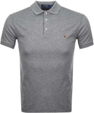 Ralph Lauren Slim Fit Polo T Shirt Grey