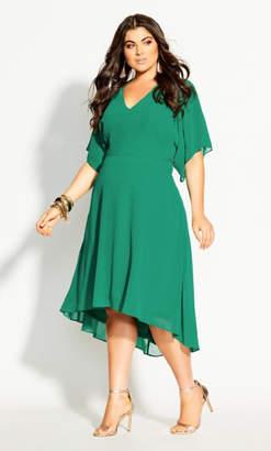 City Chic Adore Dress - green