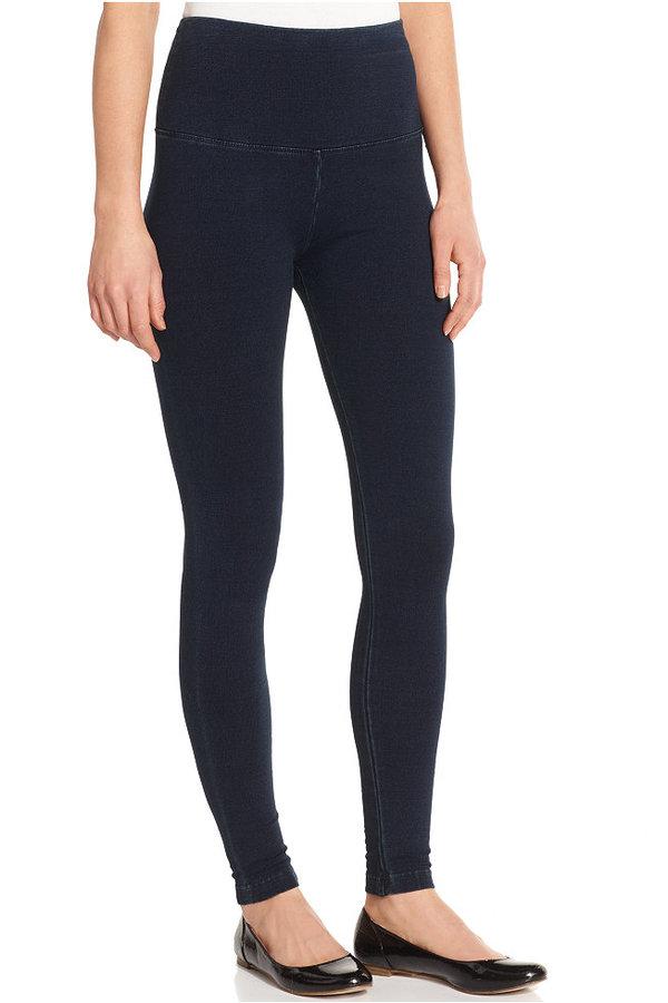 Lysse Plus Size Wide Waistband Denim Leggings