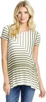 Motherhood Jessica Simpson Striped Maternity Top