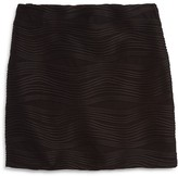 Aqua Girls' Wave Textured Skirt - Sizes S-XL