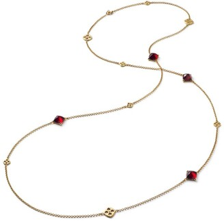 Baccarat Yellow Gold Vermeil and Crystal Medicis Long Necklace