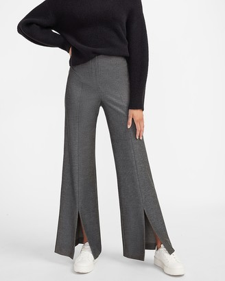 Express High Waisted Slit Front Wide Leg Pant