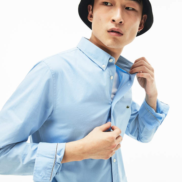 e0dc9f298c Men's Slim Fit Stretch Cotton Poplin Shirt