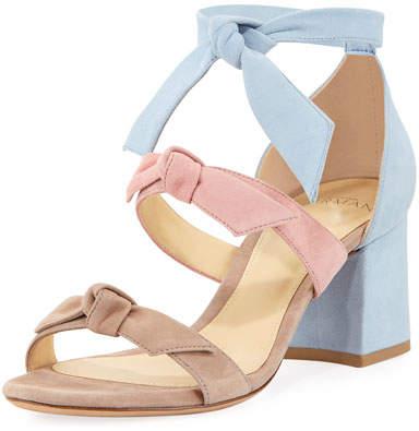 Alexandre Birman Lolita Suede Block-Heel Sandal