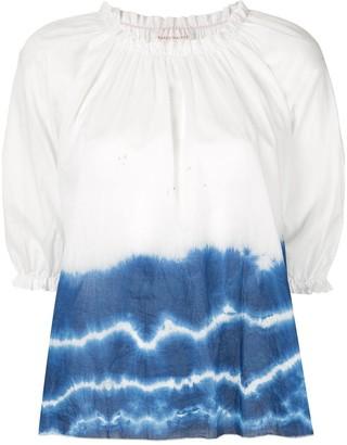Karen Walker Ultramarine tie-dye top