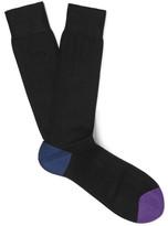 Paul Smith Colour-Block Ribbed Cotton-Blend Socks