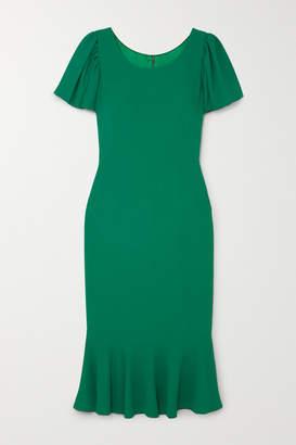 Dolce & Gabbana Ruffled Cady Midi Dress - Green