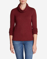 Eddie Bauer Women's Sweatshirt Sweater - Cowl-Neck