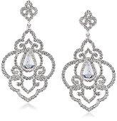 Carolee The Cloisters Crystal Openwork Drop Statement Earrings