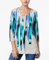 JM Collection Printed Chain-Neck Tunic, Only at Macy's