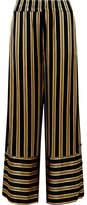 By Malene Birger Brinni Striped Satin Wide-leg Pants - Black