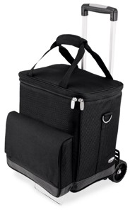 Picnic Time Legacy by Cellar 6-Bottle Wine Carrier & Cooler Tote with Trolley