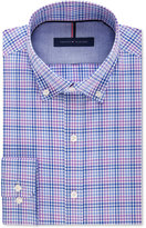 Tommy Hilfiger Men's Slim-Fit Non-Iron Purple Plaid Dress Shirt