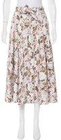 Rebecca Taylor Floral Print Midi Skirt